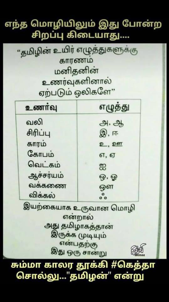 தமிழ் மொழியின் சிறப்பு